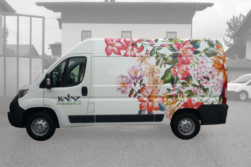 Carwrapping Salzburg Blumen Kainz 02