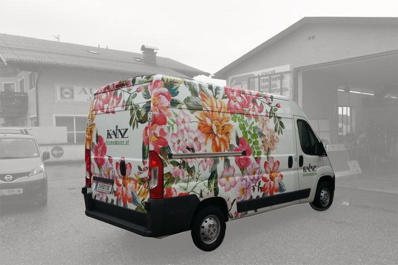 Carwrapping Salzburg Blumen Kainz 01